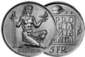 5 Fr. Gedenkmünzen