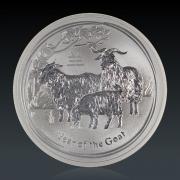 1 Oz Lunar 2 Ziege 2015 Silber
