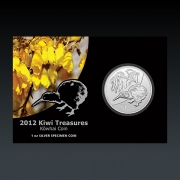 1 Oz New Zeeland Kiwi Treasures 2012 Blister Silber