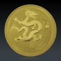 1 Oz Lunar 2 Drache 2012 Gold