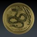 1 Oz Lunar 2 Schlange 2013 Gold
