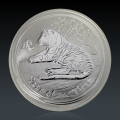 0,5 Oz Lunar 2 Tiger 2010 Silber