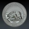 1,5 Oz Canada Polarbär 2013 Silber