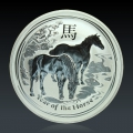 1 Oz Lunar 2 Pferd 2014 Silber