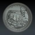 1 Oz Canada Wildlife Antilope 2013 Silber