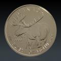 1 Oz Canada Wildlife Elch 2012 Silber